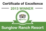 Sunglow Ranch Travelers Choice Award